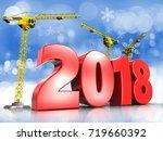 3d illustration of cranes...   Shutterstock . vector #719660392