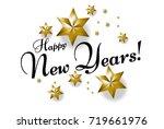 happy new years  beautiful... | Shutterstock .eps vector #719661976