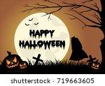 halloween background | Shutterstock . vector #719663605