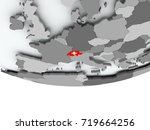 3d render of switzerland with...   Shutterstock . vector #719664256