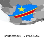 3d render of democratic...   Shutterstock . vector #719664652