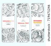 vietnamese food top view.... | Shutterstock .eps vector #719671246