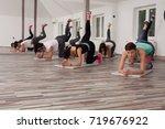 pilates class   Shutterstock . vector #719676922