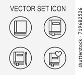 book icon set | Shutterstock .eps vector #719682526