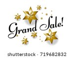 grand sale  beautiful greeting... | Shutterstock .eps vector #719682832