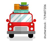 vector holiday car front view.... | Shutterstock .eps vector #719687206