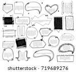 set of sketch note bubbles for... | Shutterstock .eps vector #719689276