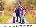 travel  tourism and hike... | Shutterstock . vector #719692795