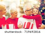 winter holidays  family and... | Shutterstock . vector #719692816