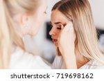 professional makeup artist... | Shutterstock . vector #719698162