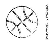 basketball ball icon  | Shutterstock .eps vector #719699866