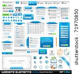 web design elements extreme... | Shutterstock .eps vector #71970850