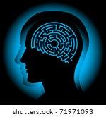 Stock vector brain maze 71971093