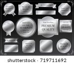a set of various silver vector... | Shutterstock .eps vector #719711692