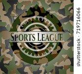 sports league camouflaged emblem | Shutterstock .eps vector #719716066