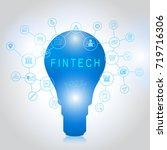 fin tech investment financial... | Shutterstock .eps vector #719716306