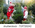 Family Selecting Christmas Tre...