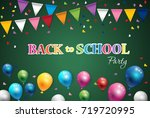 back to school  of poster and...   Shutterstock .eps vector #719720995
