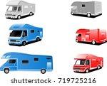 set of vector automobiles...   Shutterstock .eps vector #719725216
