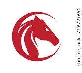 Stock vector horse logo vector 719729695