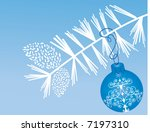blue bauble with bough