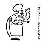 chef   retro ad art illustration | Shutterstock .eps vector #71973433