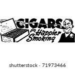 Cigars   Retro Ad Art Banner