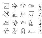 drugs line icon set. included...   Shutterstock .eps vector #719736952