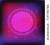 background template with pink... | Shutterstock .eps vector #719740786