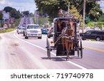 amish transportation   Shutterstock . vector #719740978
