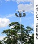 spotlight pole | Shutterstock . vector #719743876