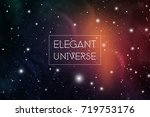 elegant universe scientific... | Shutterstock .eps vector #719753176