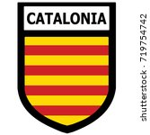 catalonia shield patch. vector. | Shutterstock .eps vector #719754742