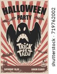 halloween party poster template.... | Shutterstock .eps vector #719762002