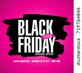 black friday sale design... | Shutterstock .eps vector #719764846