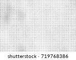 halftone grunge black white.... | Shutterstock .eps vector #719768386