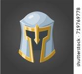 fantasy vector helmet. the... | Shutterstock .eps vector #719769778