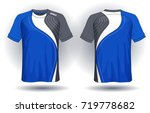 soccer jersey template. mock up ... | Shutterstock .eps vector #719778682