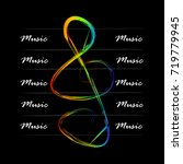 musical background with a...   Shutterstock .eps vector #719779945