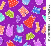 seamless vector pattern with... | Shutterstock .eps vector #719782522