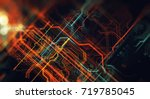 abstract technological... | Shutterstock . vector #719785045