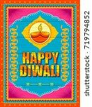 vector design of happy diwali... | Shutterstock .eps vector #719794852