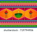 vector design of happy diwali... | Shutterstock .eps vector #719794906