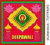 vector design of happy diwali... | Shutterstock .eps vector #719795092