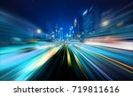 abstract motion blur city | Shutterstock . vector #719811616