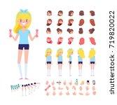 fitness girl for animation.... | Shutterstock .eps vector #719820022