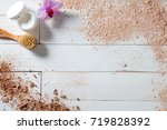 dry brush  face cream and... | Shutterstock . vector #719828392