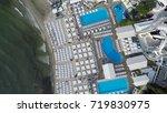 black sea beach resort  aerial... | Shutterstock . vector #719830975