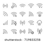 premium set of wi fi or... | Shutterstock .eps vector #719833258