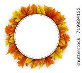 vector illustration of round... | Shutterstock .eps vector #719834122